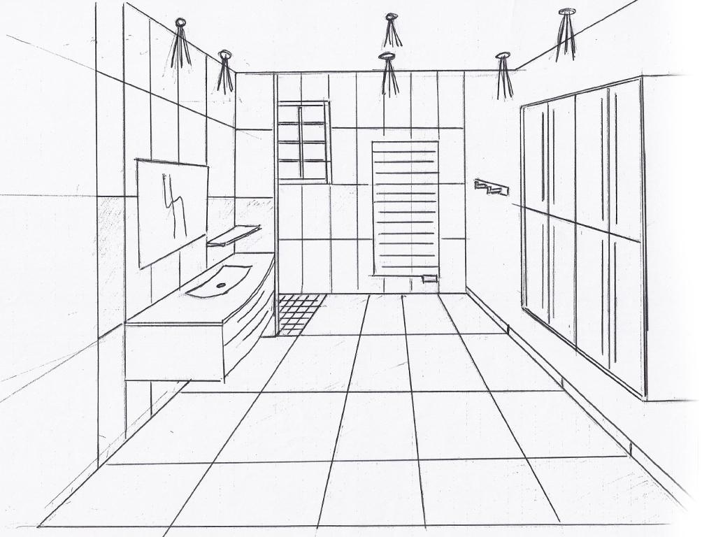 Croquis de salles de bains positiv 39 agencement - Croquis de salle de bain ...